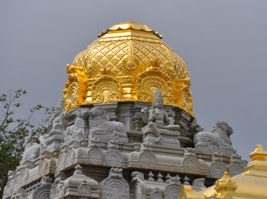 Vimanam covered with gold